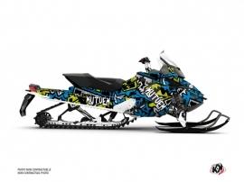 Skidoo REV XP Snowmobile Aztek Graphic Kit Blue Green