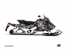 Skidoo REV XP Snowmobile Aztek Graphic Kit Red Blue
