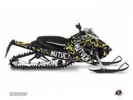 Yamaha Sidewinder Snowmobile Aztek Graphic Kit Grey Green