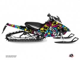 Yamaha SR Viper Snowmobile Aztek Graphic Kit Blue Pink