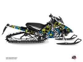 Yamaha SR Viper Snowmobile Aztek Graphic Kit Blue Green