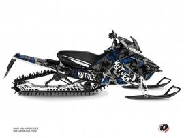 Yamaha SR Viper Snowmobile Aztek Graphic Kit Grey Blue