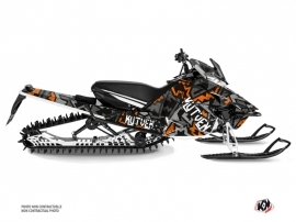 Yamaha SR Viper Snowmobile Aztek Graphic Kit Grey Orange