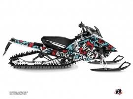 Yamaha SR Viper Snowmobile Aztek Graphic Kit Red Blue