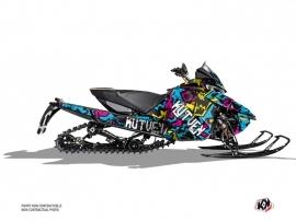 Arctic Cat Thundercat Snowmobile Aztek Graphic Kit Blue Pink