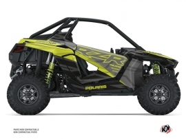 Polaris RZR PRO XP UTV Baja Graphic Kit Black Neon Green