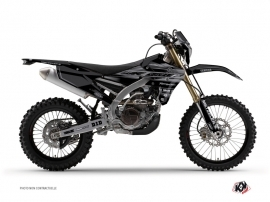 Yamaha 250 WRF Dirt Bike Black Matte Graphic Kit Black