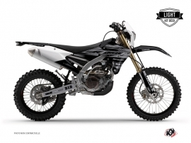 Yamaha 250 WRF Dirt Bike Black Matte Graphic Kit Black LIGHT