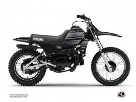 Yamaha PW 80 Dirt Bike Black Matte Graphic Kit Black
