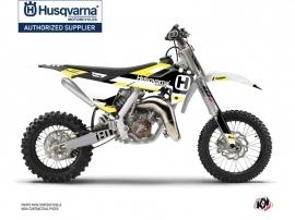 Husqvarna TC 65 Dirt Bike Block Graphic Kit Black Yellow