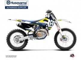 Husqvarna FC 250 Dirt Bike Block Graphic Kit Blue Yellow