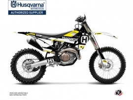 Husqvarna FC 350 Dirt Bike Block Graphic Kit Black Yellow