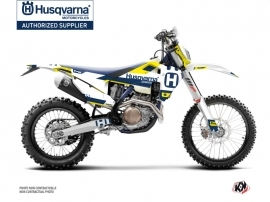 Kit Déco Moto Cross Block Husqvarna 350 FE Bleu Jaune