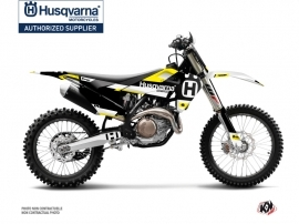 Kit Déco Moto Cross Block Husqvarna TC 125 Noir Jaune