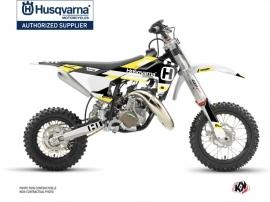 Kit Déco Moto Cross Block Husqvarna TC 50 Noir Jaune