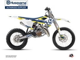 Husqvarna TC 85 Dirt Bike Block Graphic Kit Blue