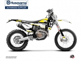Husqvarna 125 TE Dirt Bike Block Graphic Kit Black Yellow