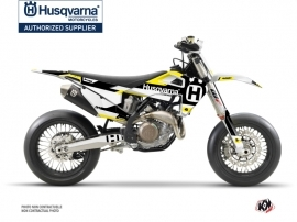 Husqvarna 450 FS Dirt Bike Block Graphic Kit Black Yellow