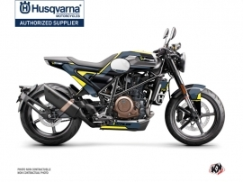 Husqvarna Vitpilen 701 Street Bike Bobber Graphic Kit Blue Yellow