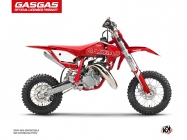 GASGAS MC 50 Dirt Bike Border Graphic Kit Red