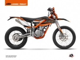 KTM 250 FREERIDE Dirt Bike Breakout Graphic Kit Black Orange
