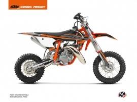 KTM 50 SX Dirt Bike Breakout Graphic Kit Black Orange
