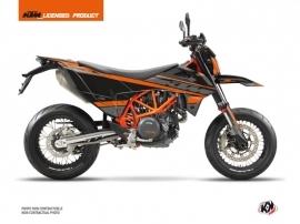 Kit Déco Moto Cross Breakout KTM 690 SMC R Noir Orange