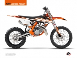 KTM 85 SX Dirt Bike Breakout Graphic Kit Orange White