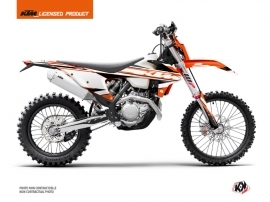 KTM EXC-EXCF Dirt Bike Breakout Graphic Kit Black Orange White