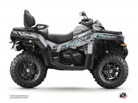CF MOTO CFORCE 850 XC ATV Brush Graphic Kit Grey FULL