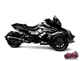 Can Am Spyder RS Roadster Burn Graphic Kit Grey
