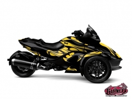 Can Am Spyder RS Roadster Burn Graphic Kit Yellow
