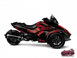 Can Am Spyder RS Roadster Burn Graphic Kit Red