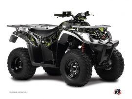Kymco 250 MXU ATV Camo Graphic Kit Black Green