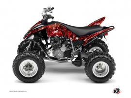 Yamaha 250 Raptor ATV Camo Graphic Kit Red
