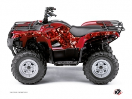 Yamaha 300 Grizzly ATV Camo Graphic Kit Red