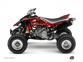 Yamaha 450 YFZ ATV Camo Graphic Kit Red