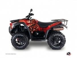 Kymco 700 MXU ATV Camo Graphic Kit Red