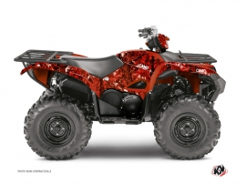 Yamaha 700-708 Grizzly ATV Camo Graphic Kit Red