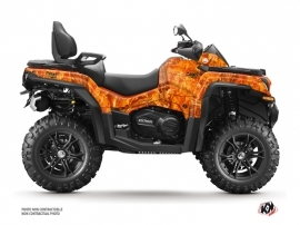 CF MOTO CFORCE 850 XC ATV Camo Graphic Kit Orange