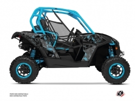 Can Am Maverick UTV Camo Graphic Kit Black Blue