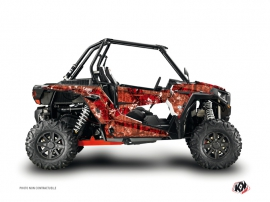 Polaris RZR 1000 Turbo UTV Camo Graphic Kit Red