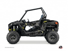 Polaris RZR 900 S UTV Camo Graphic Kit Black Yellow