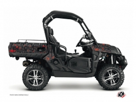 CF Moto U Force 800 UTV Camo Graphic Kit Black Red