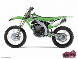 Kawasaki 250 KX Dirt Bike Chrono Graphic Kit Black