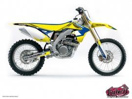 Suzuki 250 RM Dirt Bike Chrono Graphic Kit Blue