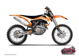 KTM EXC-EXCF Dirt Bike Chrono Graphic Kit Black