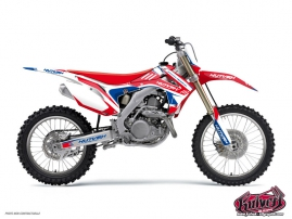 Kit Déco Moto Cross Chrono Honda 250 CR Bleu