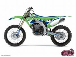 Kawasaki 250 KXF Dirt Bike Chrono Graphic Kit Blue