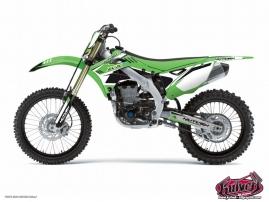 Kawasaki 250 KXF Dirt Bike Chrono Graphic Kit Black